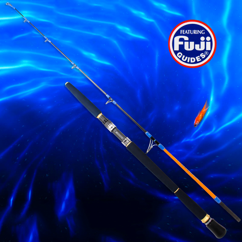 2015 New spinning jigging rod carbon blank full fuji parts ocean boat rod 1.65M(China (Mainland))