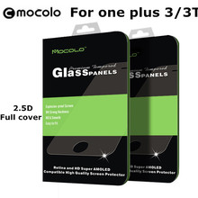 One plus oneplus 3 three / 3T T 9H Tempered Glass mocolo Brand 2.5D Arc Curved Protect Full Cover Film Screen Protector - NO.1006 Store store