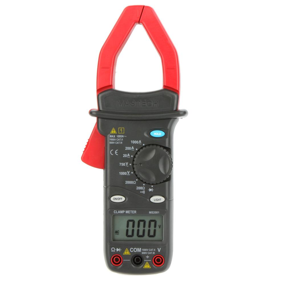 MASTECH MS2001 1000A Digital AC Clamp Meters AC/DC Voltmeter AC Ammeter Ohmmeter Insulation Tester W/LCD Backlight Megohmmeter<br><br>Aliexpress
