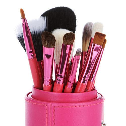 12PCS Makeup Brushes Sets Professional Cosmetic Set Pincel Maquiagem Eye Brow Powder Lipsticks Shadows Brush Blusher Make Up(China (Mainland))