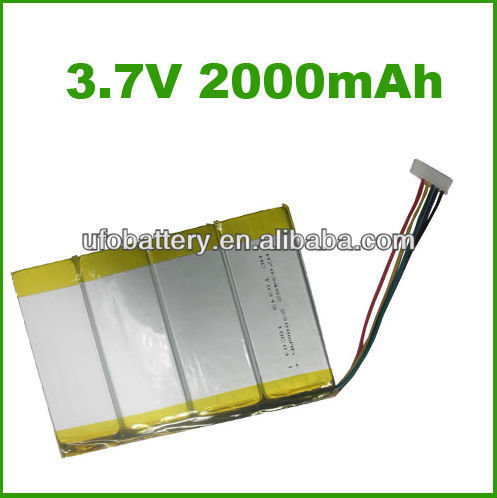 Rechargeable li polymer battery 3.7v deep cycle battery for , smartphone/gps tracker/laptop(China (Mainland))