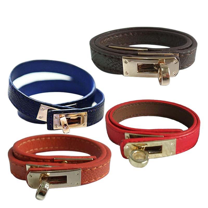 Buckle Leather Bracelet Wholesale H Locomotive Bracelets KELLY Rotary Bangle Valentine Day Gift Charms Braided Wrist(China (Mainland))