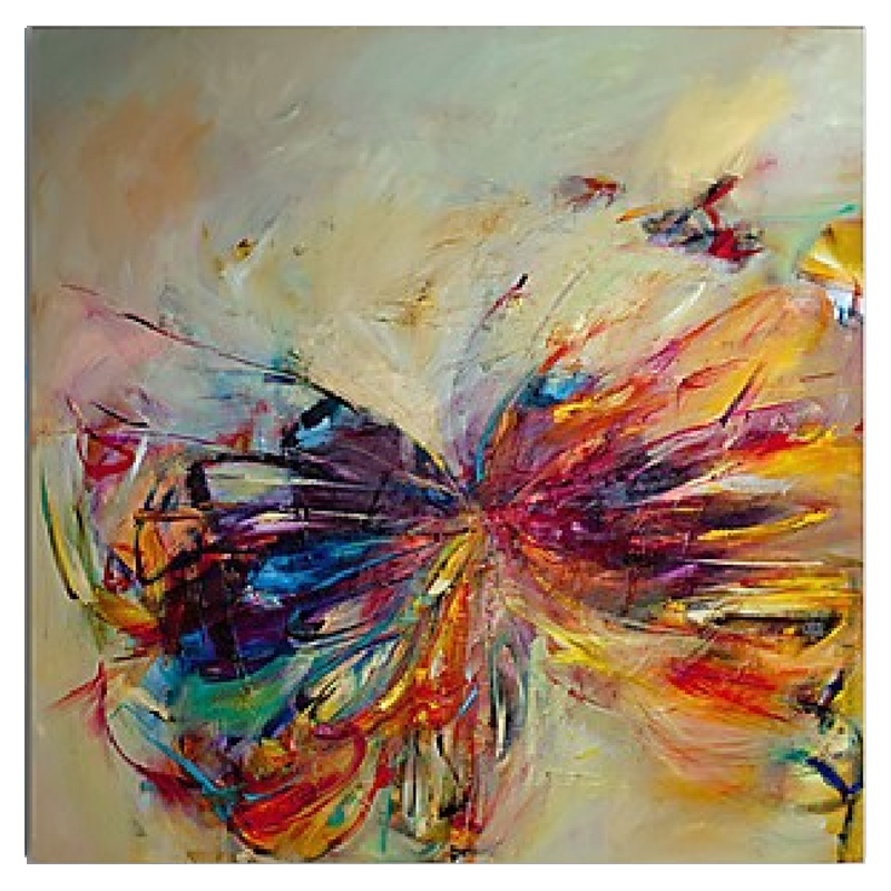 100 hand painted butterfly oil painting abstract modern for Diy contemporary art