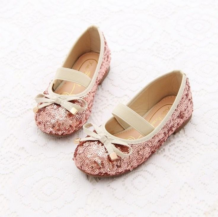 2015 autumn spring summer and winter childrens girls Sequins warm bow Plush font b shoes b