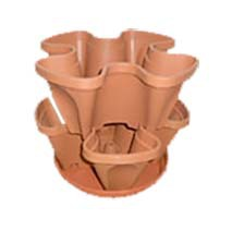 two pots one tray a kit hanging balcony stacking pots for Strawberry(China (Mainland))