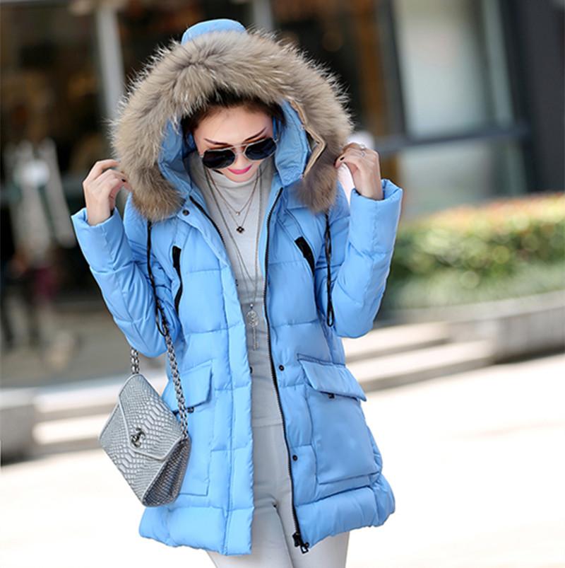 SXM New Women Winter Jacket Fur Collar Plus Size Duck Down jacket Women Padded Coat Women Thickening Parka 4 Color(China (Mainland))