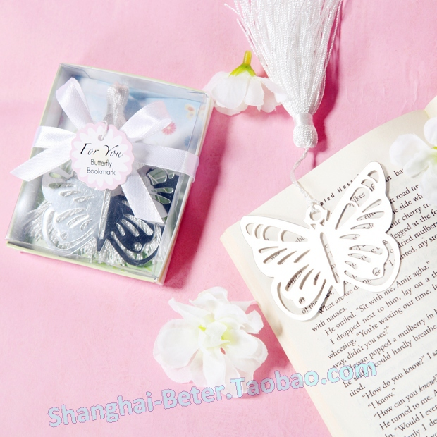 Free Shipping 100box Butterfly metal Bookmark WJ048 Graduation Gift, Festive & Party Supplies(China (Mainland))