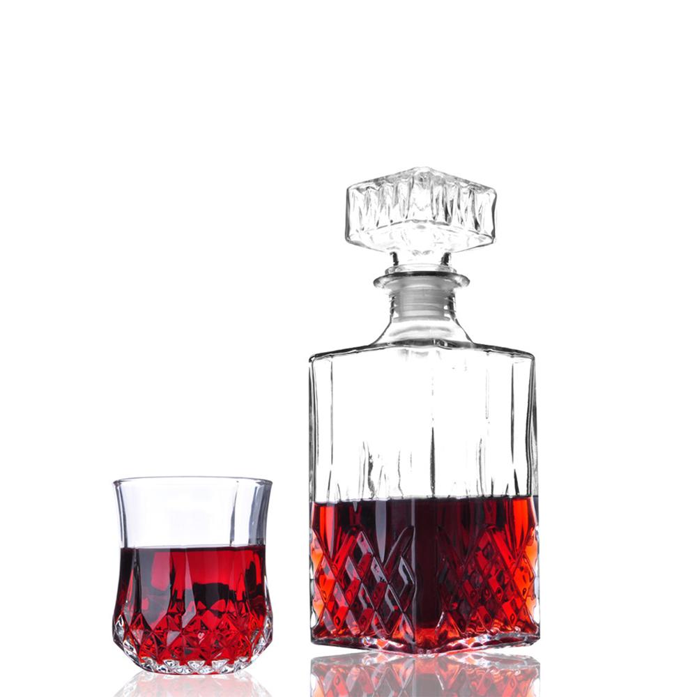 New diamond design classic elegant wine decanter whisky bottle w 6