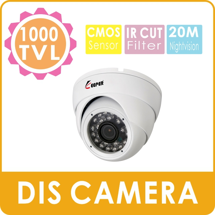 KEEPER 1000TVL SONY CMOS Mini Metal Dome Indoor Security CCTV Camera 24pcs IR LED 30M Distance 3.6MM lens With IR Cut