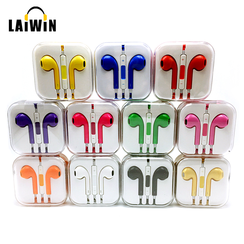 Birthday Gift 2016 Newest Colorful 3.5mm In Ear Earphone Headset Earbud For iPhone 4s 5 5s 6 6s 6 plus Xiaomi Headphone Headsets<br><br>Aliexpress