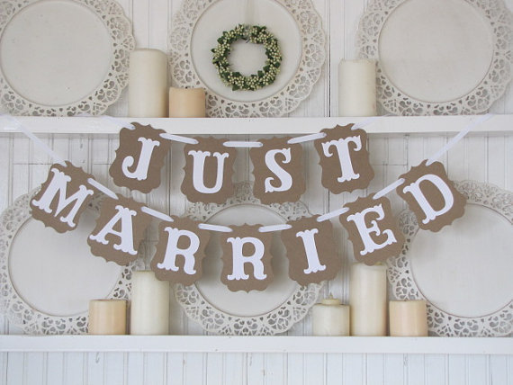 Hot Sale Vintage Wedding Decoration Flag Garland Wedding Banner With White Ribbon Party