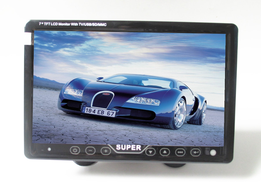 7 inch Touch key LCD Car auto portable dashboard TV Monitor MP3 MP4 AV video player USB SD TV Tuner FM car monitor
