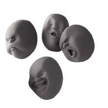 Fress shipping 4PCS Novelty CAOMARU Stress Relievers Toy Anti-stress Tool Vent human Face Balls Christmas Gift 2Color(China (Mainland))