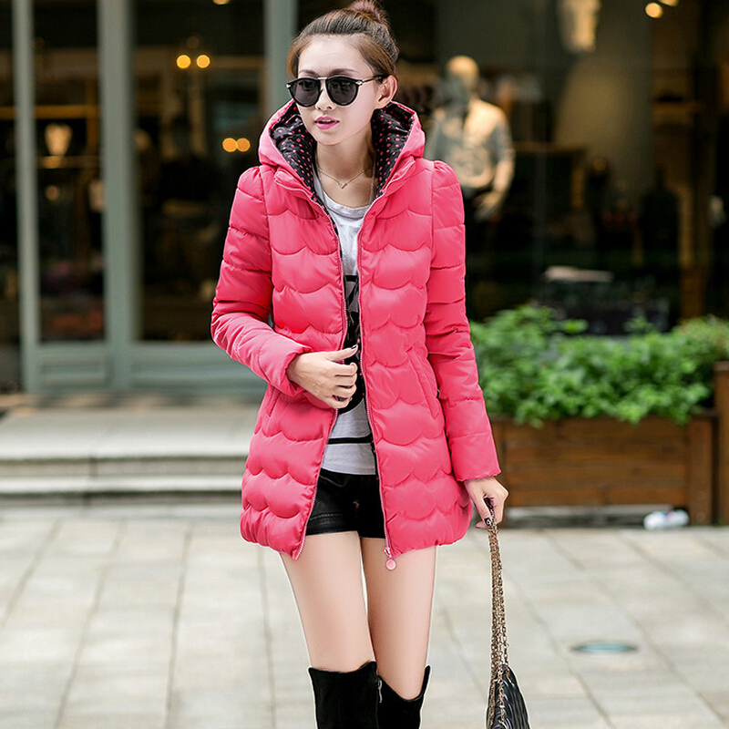 Wadded Jacket Female 2015 New Women s Winter Jacket Down Cotton Jacket Slim Parkas Ladies Coat