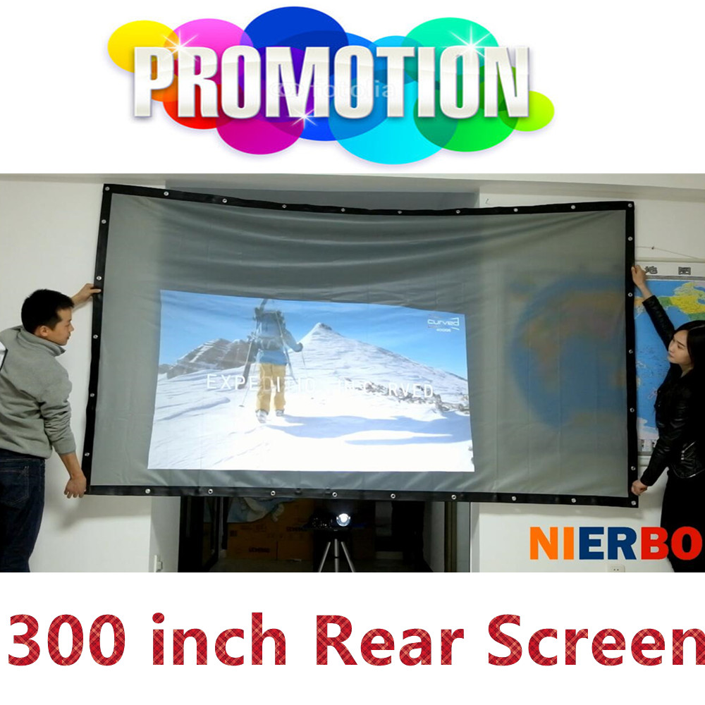 300 inches Rear Projector Screen For Universal DLP LED LCD Projector Home Theater Business Outdoor Advertising Projection Screen