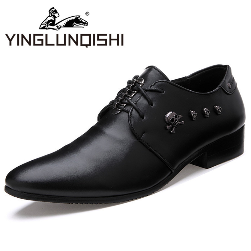 New 2015 Oxfords Shoes For Men High Quality Leather Men Shoes Summer Breathable Lace up Formal Wedding Dress Shoes Black White(China (Mainland))