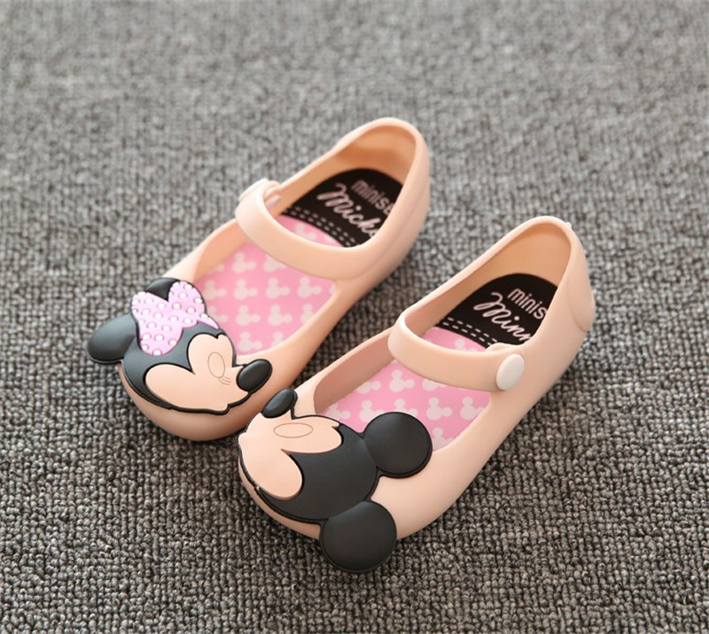 Mini Melissa Jelly Sandals For Baby Girls Children Summer Cute Minnie Mouse and Cat Cartoon Beach Shoes New Infantil Sandalia(China (Mainland))