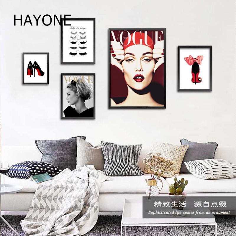 Modern fashion beauty women art canvas prints clothing shop paintings Cosmetics store Wall pictures home decor no frame DP0412(China (Mainland))