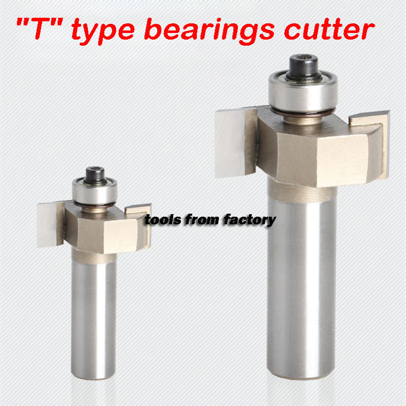 1pc T type router bits 1/4*1/4 T slot bearings wood milling cutter woodwork carving tools wooden(China (Mainland))