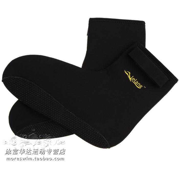 Slip-resistant socks submersible winter swimming snorkel stockings 3mm thickening(China (Mainland))