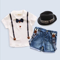 2 To 8 Years Boys Autumn Casual Suits Blue Turn-down Collar Plaid Shirt+ Black Coat+ Jeans Pants With Pocket 00210
