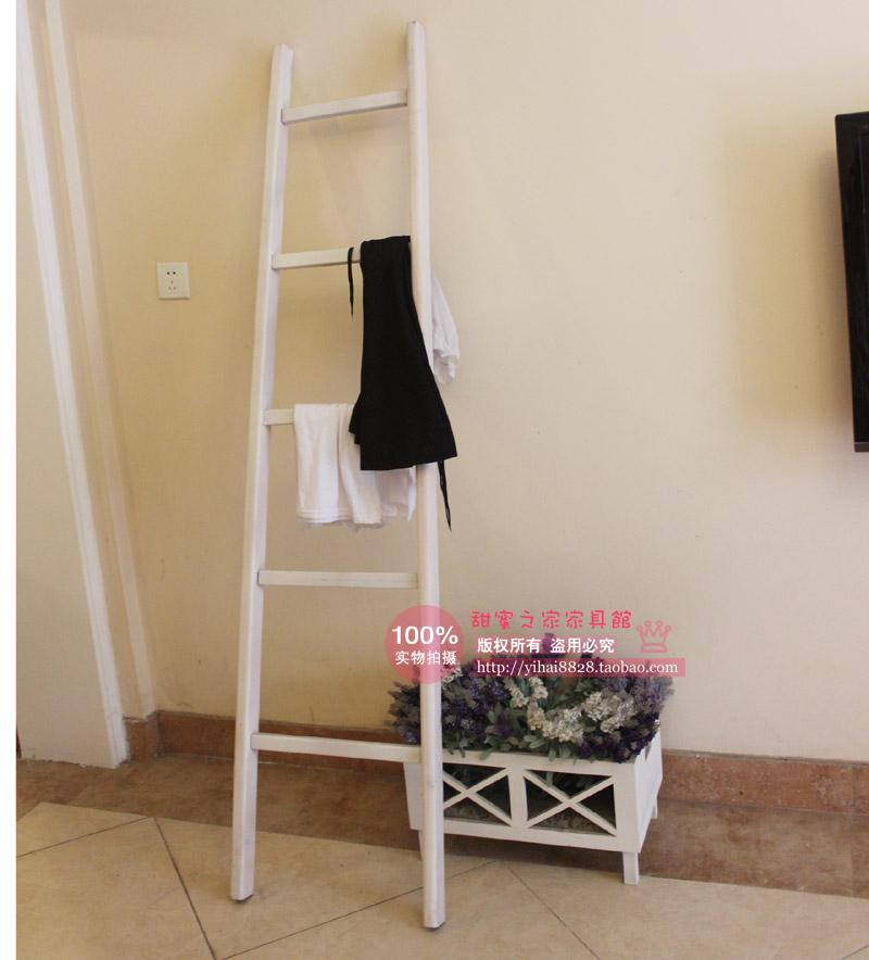 Korean trapezoidal ladder wood floor coat rack clothes rack hanger wall hanger creative pine wood(China (Mainland))