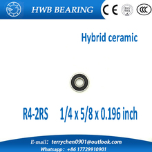 Buy Free R4-2RS R4 hybrid ceramic deep groove ball bearing 6.35x15.875x4.978mm R4-2RS for $4.81 in AliExpress store