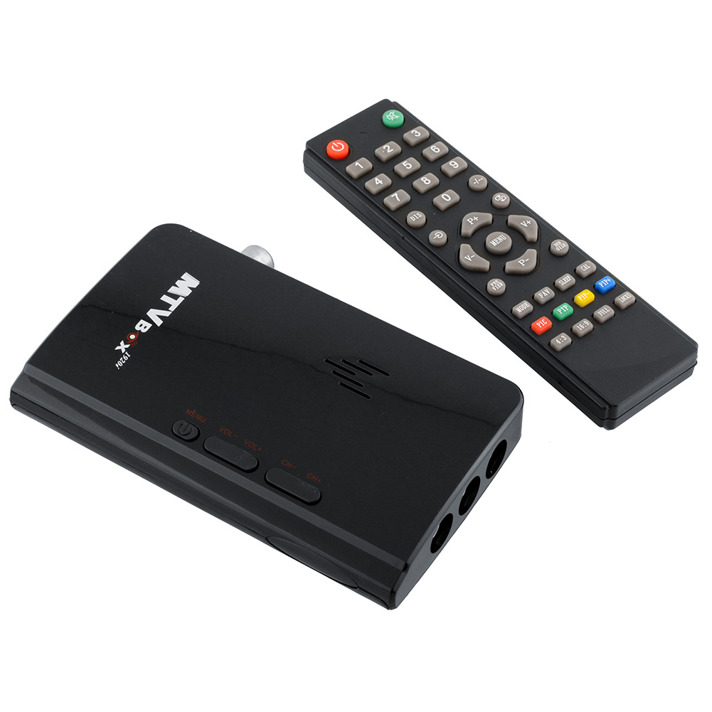 External LCD CRT External TV Tuner PC Monitor BOX Receiver Tuner Speaker TV Box With Remote Control(China (Mainland))
