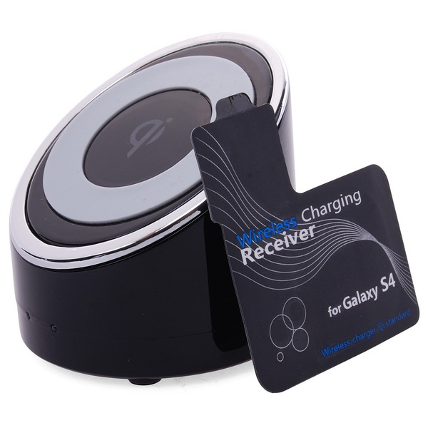New Qi Wireless Charger Pad +Receiver Chip Tag For Samsung Galaxy S4 I9500 BC330(China (Mainland))