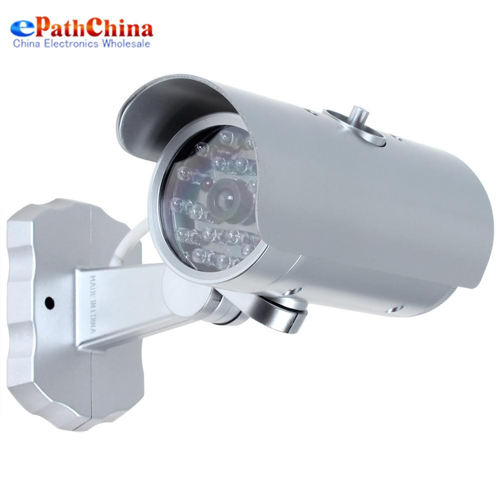 False 18 IR LEDs Emulational Fake Decoy Dummy CCTV Camera With Red Blinking LED Light For Indoor Outdoor Security Surveillance(China (Mainland))