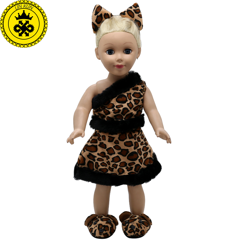 American Girl Doll Clothes Ears And Tail Tiger Leopard Sets Doll Clothes With Shoes Free For 16 18 Inch Dolls 3 Colors Mg 262