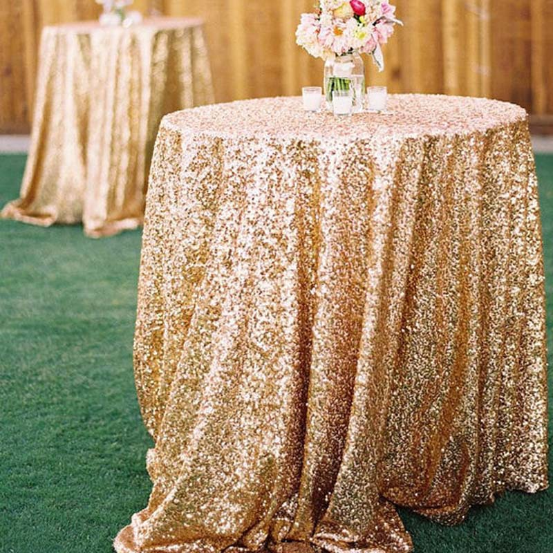 "Wedding Sequin Table cloth 108"" Round banquet party Table cover custom pink red silver white Free wholesale(China (Mainland))"