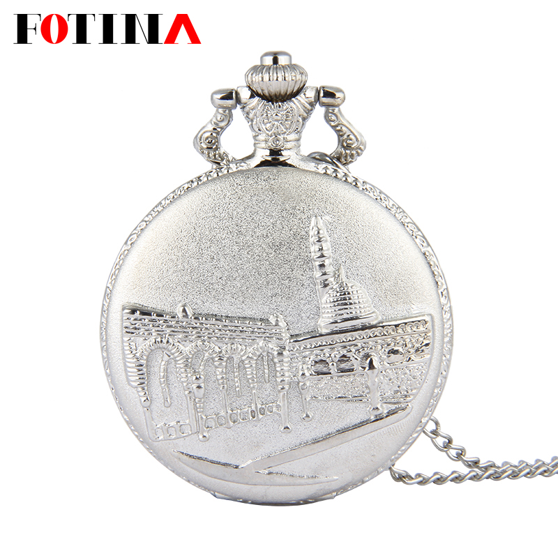 Mens Watches Top Brand Luxury Digital Vintage Silver Pocket Watch Chain Necklace Women Men Castle Retro Pocket Watch Reloj Mujer(China (Mainland))