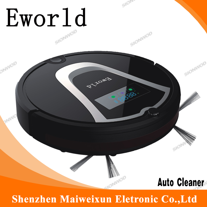 Eworld Home and Office Vacuum Cleaner and Floor Mopping Robot M884 (Black color ) with Road Sweeper Brushes<br><br>Aliexpress