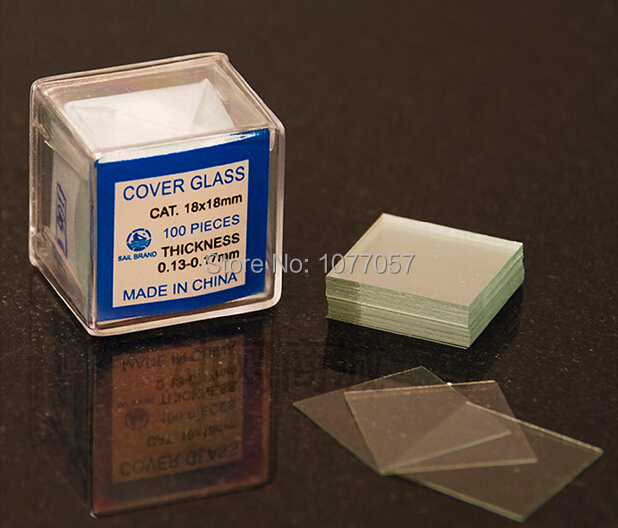 Free Shipping Microscope Slides 50pcs and Cover Glass Slips 100pcs 1set