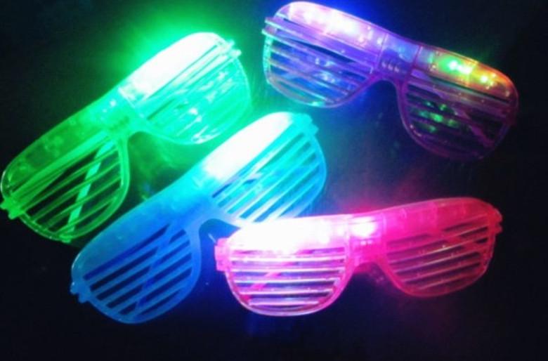 24pcs/lot Novelty toys 2015 New shutter fashion flash LED glasses glowing toys decorative for halloween decoration(China (Mainland))