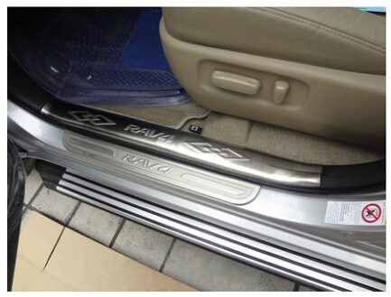High quality! 2009-2012 TOYOTA RAV4 Welcome pedal!Stainless steel door sill Stickers threshold stickers,Free shipping!!<br><br>Aliexpress