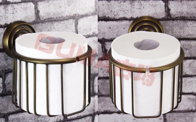 Antique Brush Bronze Copper Tissue Toilet Paper Holder