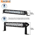 RACBOX 11 12inch 50W With CREE LED Chips LED Light Bar Offroad 12V 24V For ATV