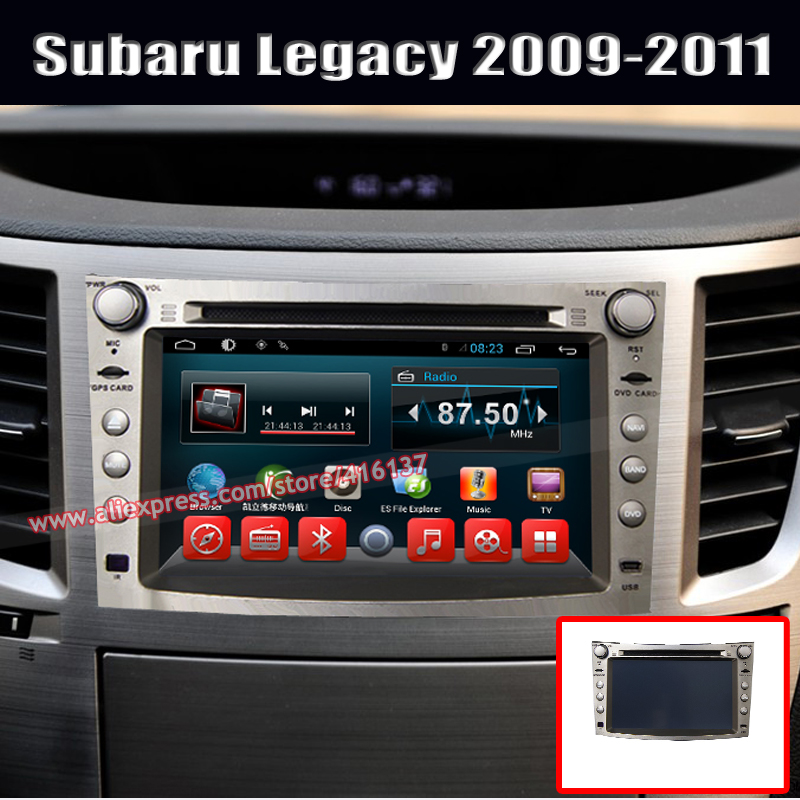 android 4.4 car double din music system in car multimedia navigation gps dvd player forSubaru Legacy Outback(China (Mainland))