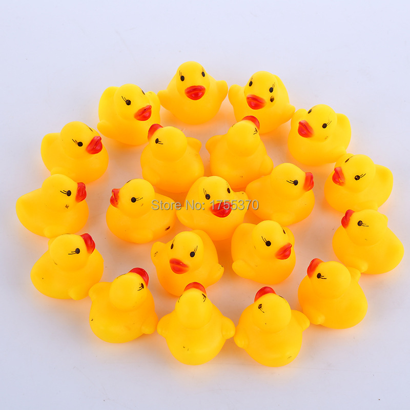3PCS Classic Toys Cute Rubber Little Yellow Duck Girl Boy Baby Toy Bath Bathing(China (Mainland))