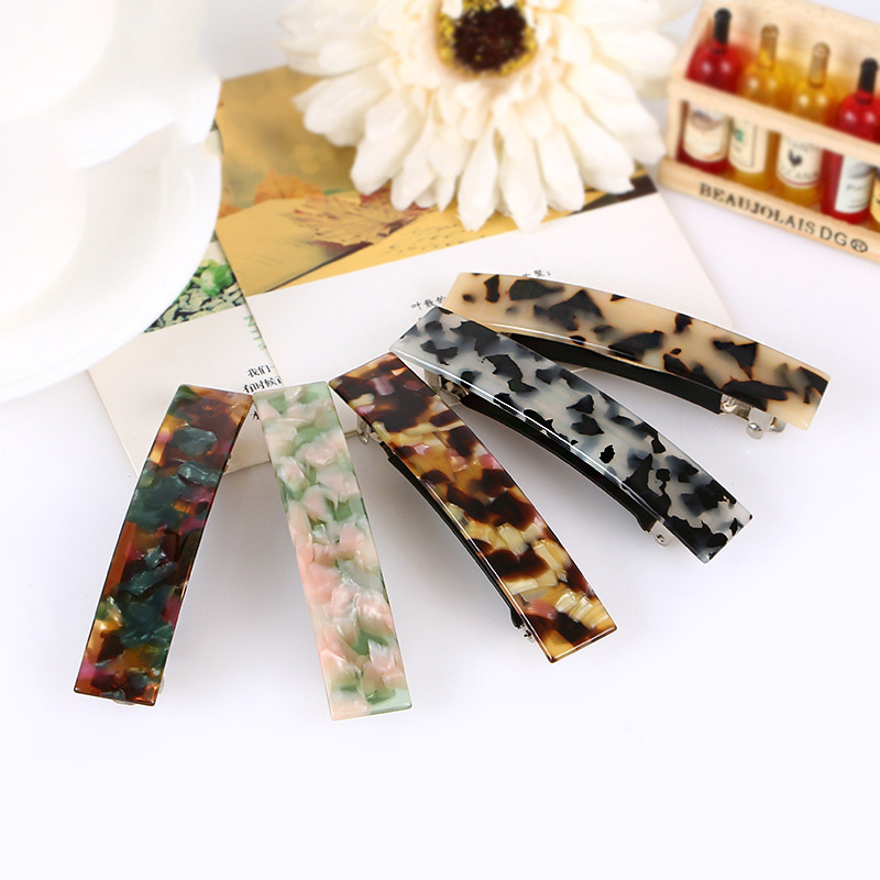 Classical Elegant Women's Hair Clip Cellulose Acetate Barrette Perfect gift FREE SHIPPING FR109(China (Mainland))