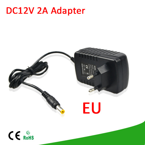 1Pcs DC 12V 2A Switching Power Supply Converter Adapter EU Plug Charger lighting transformer For LED Strip CCTV Security Camera(China (Mainland))