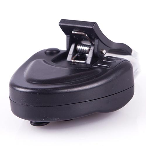 New Fishing Black Electronic LED Light Fish Bite Sound Alarm Bell Clip On Fishing Rod 45972
