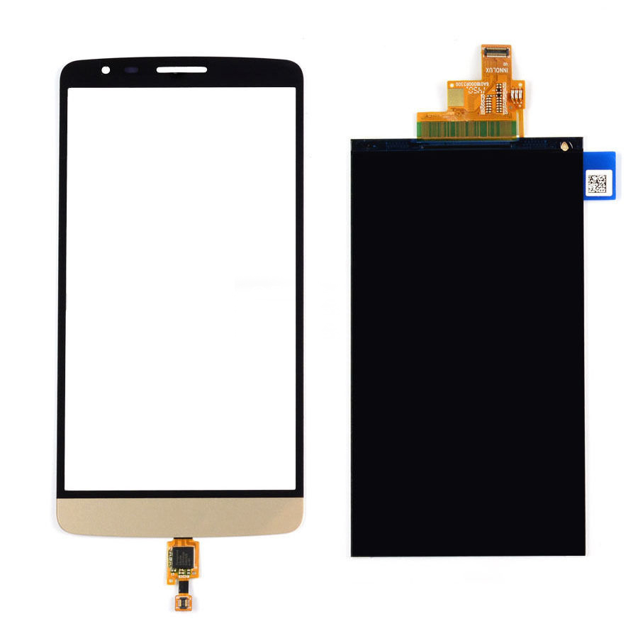 Gold Touch Screen Digitizer Glass Sensor + LCD Display Panel Screen For LG G3 Stylus D690N D690 Free Shipping(China (Mainland))