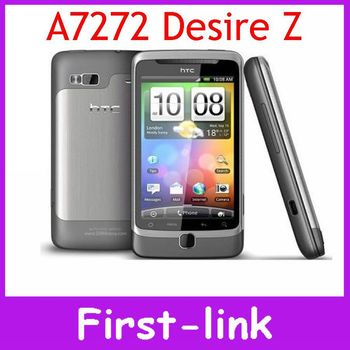 One Year Warranty Original HTC Desire Z A7272 G2 Slider 5 MP Camera 3.7 inch Screen GPS Wifi Unlocked Smartphones Free Shippping