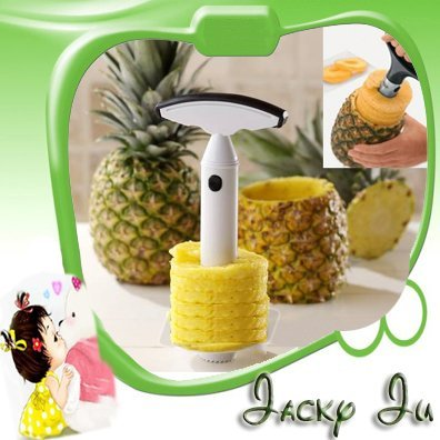 2pcs/Lot Free Shipping New Novel Convenient Cut Fruit Pineapple Peeler Corer Slicer Parer Cutter Tool