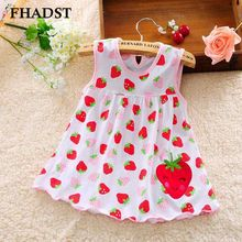 2016 Cute Baby Girl Dress Cotton Regular Dot Sleeveless A-Line Dresses Casual Kid Clothing Above Knee Minin Princess 3-18 Months