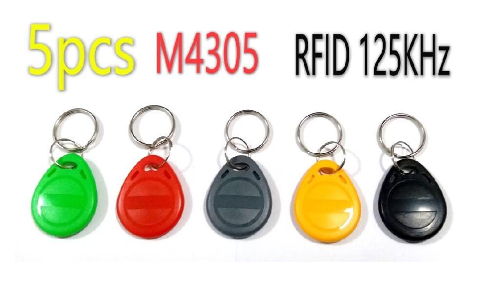 5pcs/Lot EM4305 Keyfobs 125KHz RFID Tag Proximity Key Ring Rewritable Copy RFID Card(China (Mainland))