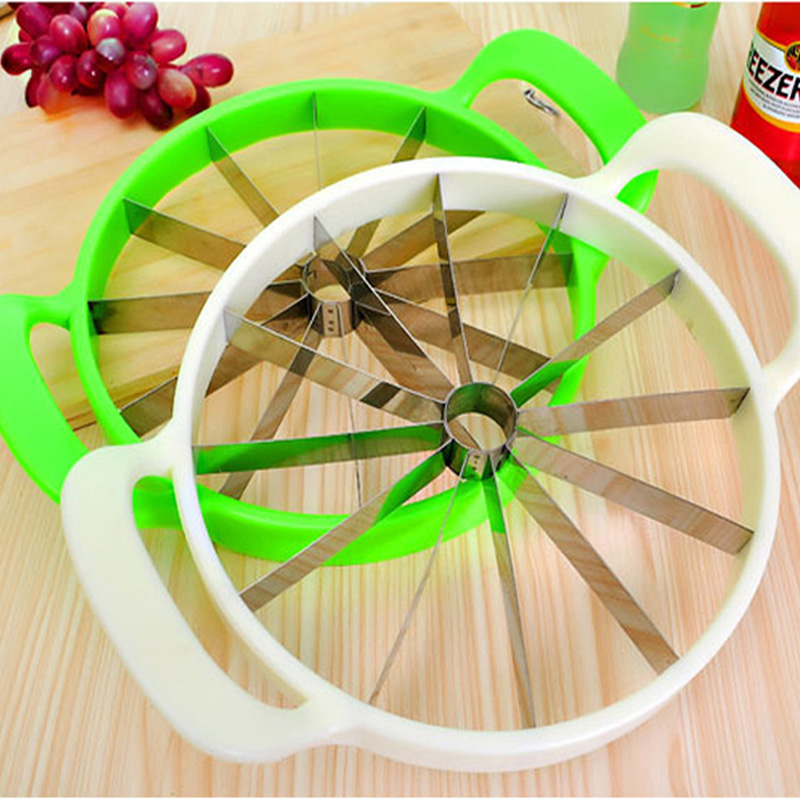 Kitchen Pratical Tools Creative Watermelon Slicer Melon Cutter Knife 410 stainless steel Fruit Cutting Slicer White and Green(China (Mainland))